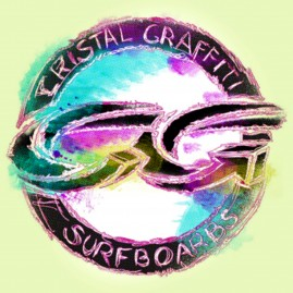 Cristal Graffiti surf t-shirt